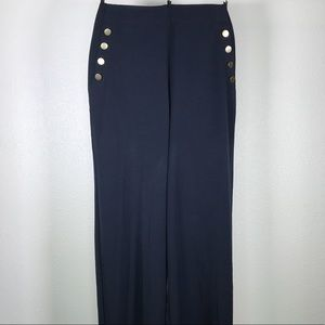 Eloquii Navy Sailor Style Dress Pants